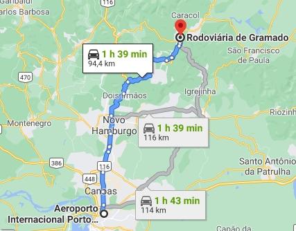 Transfer para Gramado e Canela
